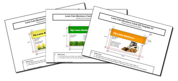 Business Cards for your lawn care business